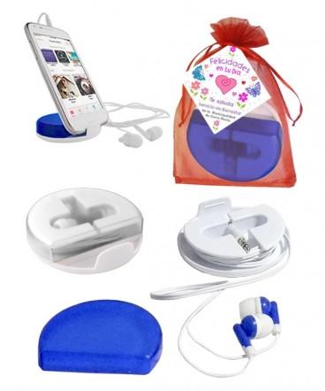Audífonos con soporte de celular regalo dia de la madre