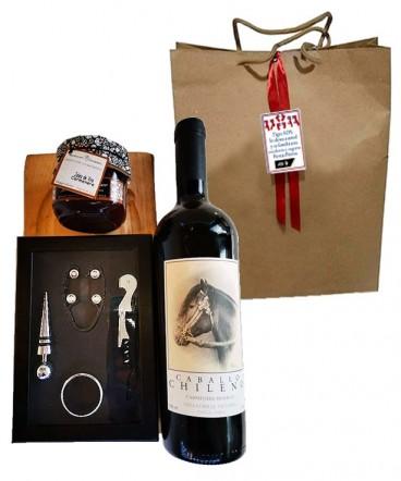 Set de vino y cóctel regalo fiestas patrias
