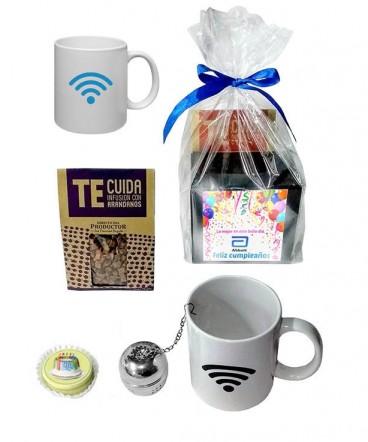 Taza magica set snack regalo de cumpleaños