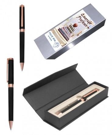 Bolígrafo en estuche magnetico regalo dia del profesor