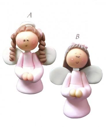 Cúpula de torta angelita de cerámica Bautizo