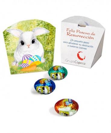 Caja display 3 huevos regalo pascua de resurrección