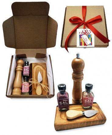 Pack tabla y sales gourmet regalo de cumpleaños