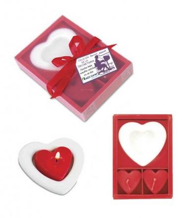 set velas corazón regalo día de la secretaria