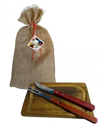Tabla plato asado set regalo fiestas patrias