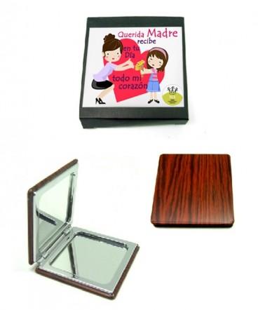 Espejo doble en caja de regalo día de la madre