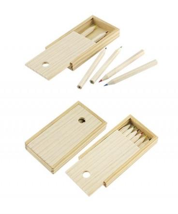 Set lapices de colores madera