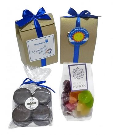 Bolso papel importado con dulces para compartir
