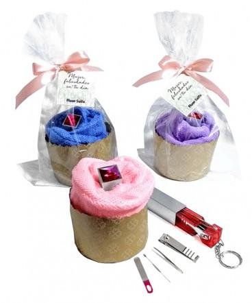 Manicure llavero con toalla regalo dia de la madre