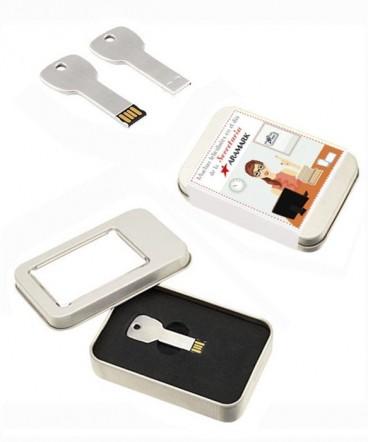Pendrive 8GB Forma de Llave caja regalo día de la secretaria