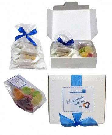 Caja cinta con calugas y gomitas para compartir