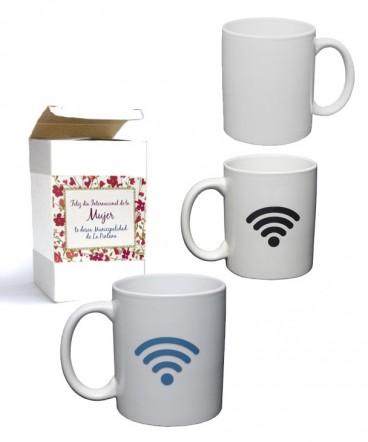 Taza magica wifi regalo día de la mujer