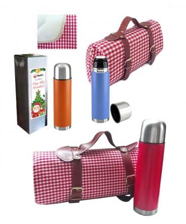 Manta de picnic con termo regalo de navidad