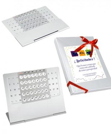 Calendario eterno metálico regalo de graduación