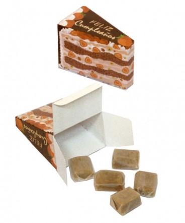 Caja torta con calugas de leche regalo de cumpleaños