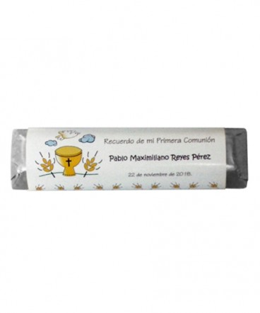 Chocolates personalizados de Primera Comunion