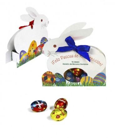 Conejo cinta regalo de pascua resurrección