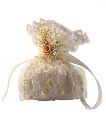 Saquito crochet blanco toul de matrimonio o aniversario