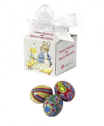 Cajita cinta perlada huevitos regalo pascua resurreccion