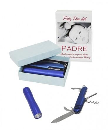 Linterna-cortapluma caja regalo día del padre