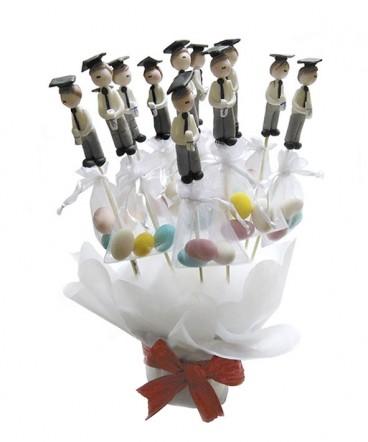 Base con Graduados brochetas almendras recuerdo Graduación