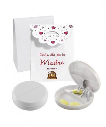 Pastillero con cortador en caja de regalo día de la madre