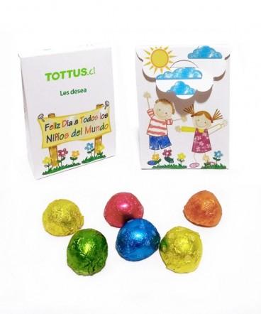 Bolso con malvas regalo día del niños