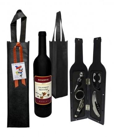 Set de vino botella regalo fiestas patrias