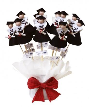 Base graduados paño lenci negro recuerdo graduación