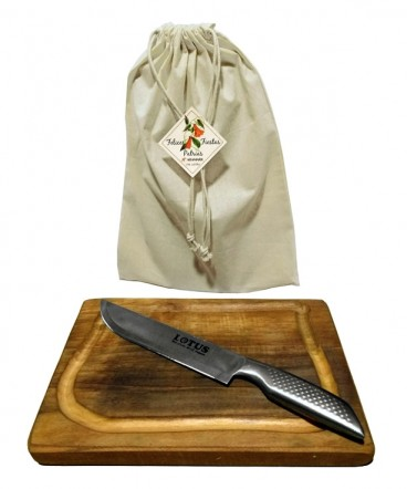 Tabla rústica- cuchillo regalo fiestas patrias