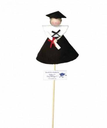 Graduado paño lency brocheta recuerdo Graduación