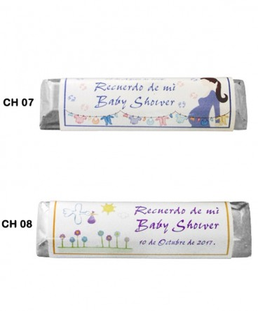 Chocolates etiquetas personalizadas de Baby Shower