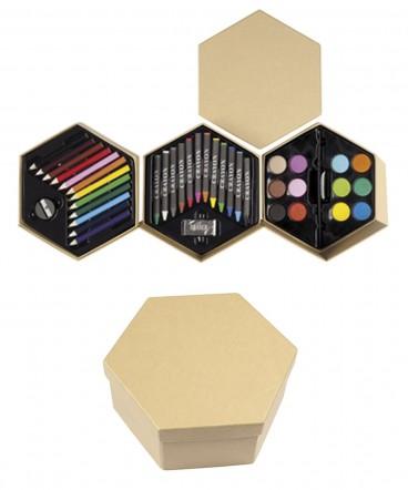 Set de pintura hexágonal