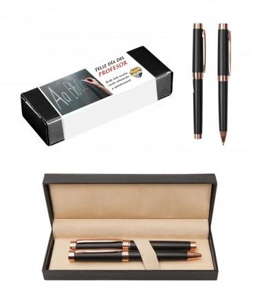 Set de bolígrafo y Rollerball regalo dia del profesor