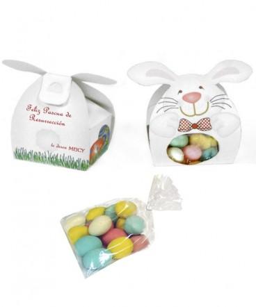 Cajita conejo regalo pascua resurrección