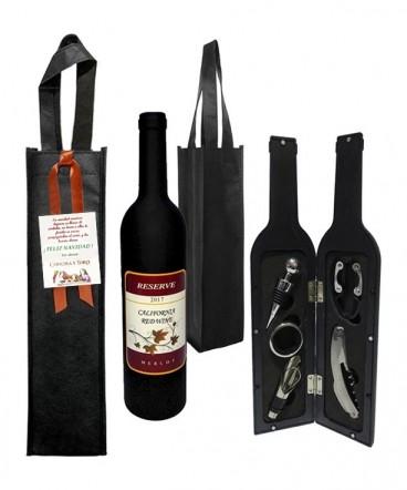 Set de vino en botella regalo de navidad