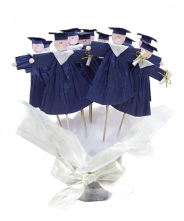 Base Graduados country azules recuerdo Graduación