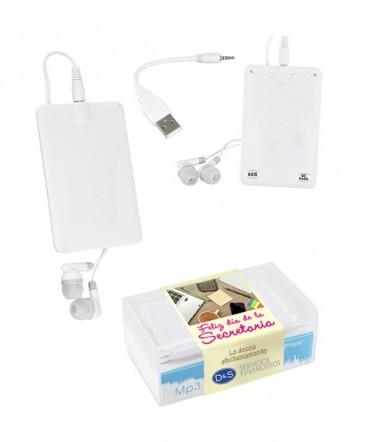 Tipo tarjeta de crédito MP3 Player regalo día de la secretaria
