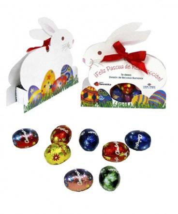 Conejo cinta con huevitos regalo de pascua resurrección
