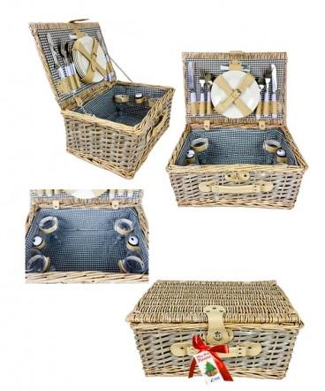 Cesta de picnic regalo de navidad