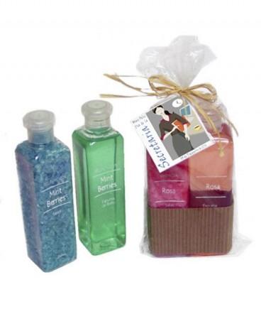 Sales y espuma de baño regalo día de la secretaría