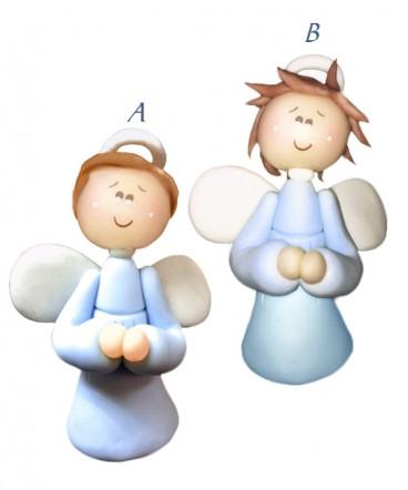 Cúpula de torta ángel ceramica celeste de bautizo