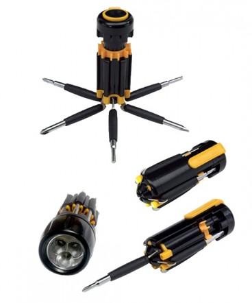 Destornillador linterna 6 en 1