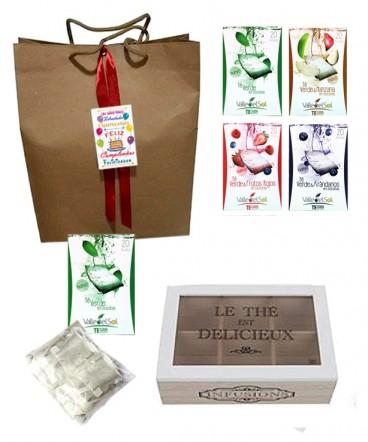 Caja grande con té verde regalo de Cumpleaños