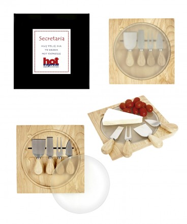 Tabla de quesos en caja de regalo día de la Secretaria
