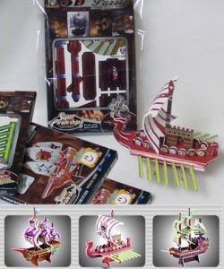 Puzzles piratas 3D regalo dia del niño