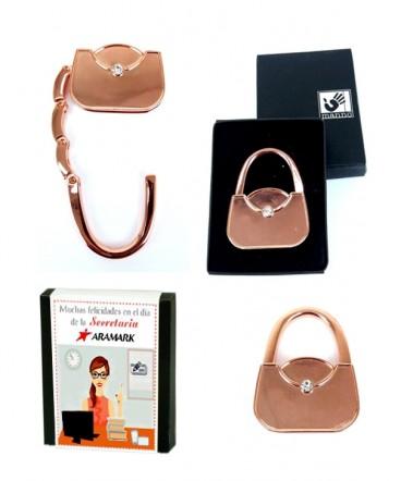 Colgador de cartera retráctil en caja regalo día de la secretaria