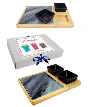 Set de mármol cóctel regalo de navidad