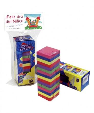 Jenga chico colores regalo dia del niño