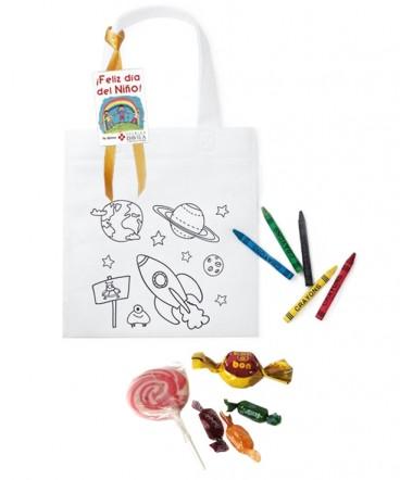 Kit Bolsa entretenida dulce regalo dia del niño